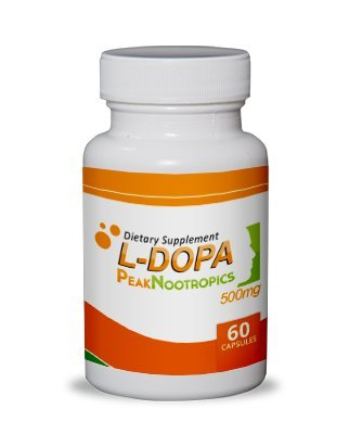 PeakNootropics L-DOPA (99%) Mucuna Pruriens Extract - 60 Count 500 mg