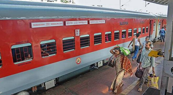 Upgraded: Bhubaneswar-Bengaluru Cantt SF Express arrives in Visakhapatnam  with new LHB coaches on