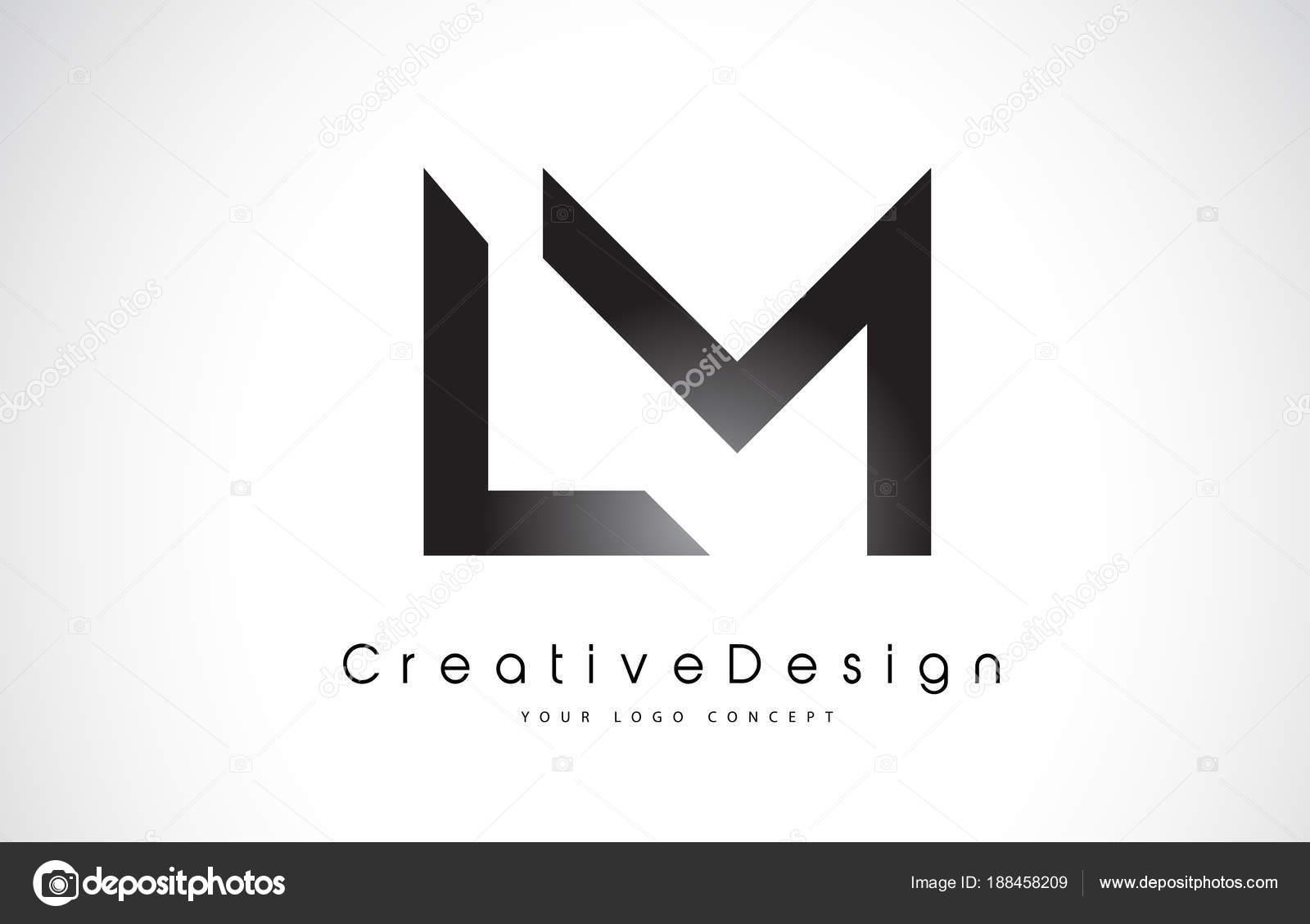 Diseño de logotipo LM L M carta. Vector de cartas moderno icono creativo L  — Vector