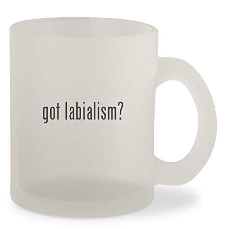 got labialism? - Frosted 10oz Glass Coffee Cup Mug