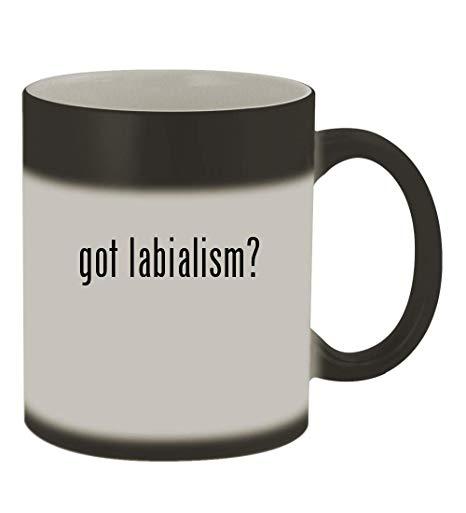 got labialism? - 11oz Color Changing Sturdy Ceramic Coffee Cup Mug, Matte  Black