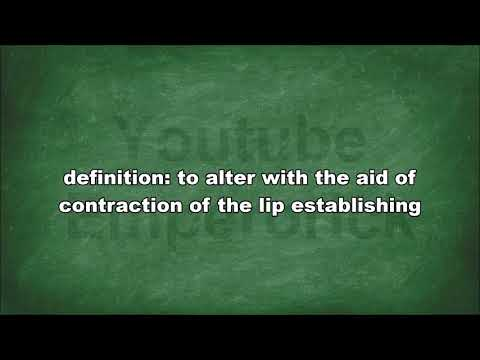Meaning of Labialize