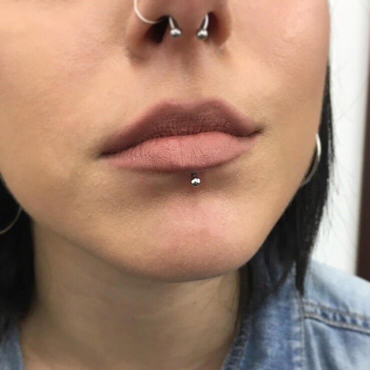 labret lip piercing pictures