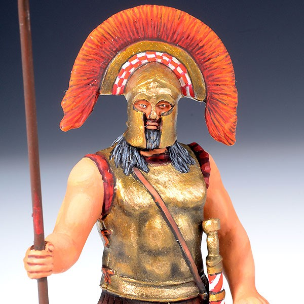 Lacedaemonian Officer Holding Spear