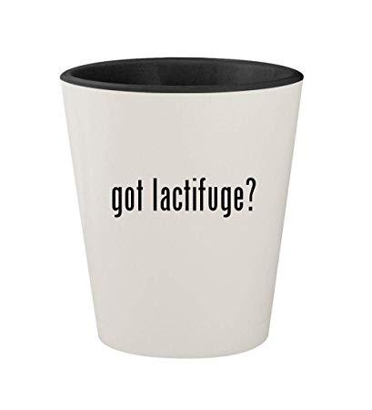 got lactifuge? - Ceramic White Outer & Black Inner 1.5oz Shot Glass