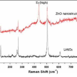 Raman spectra of ZnO nanostructure