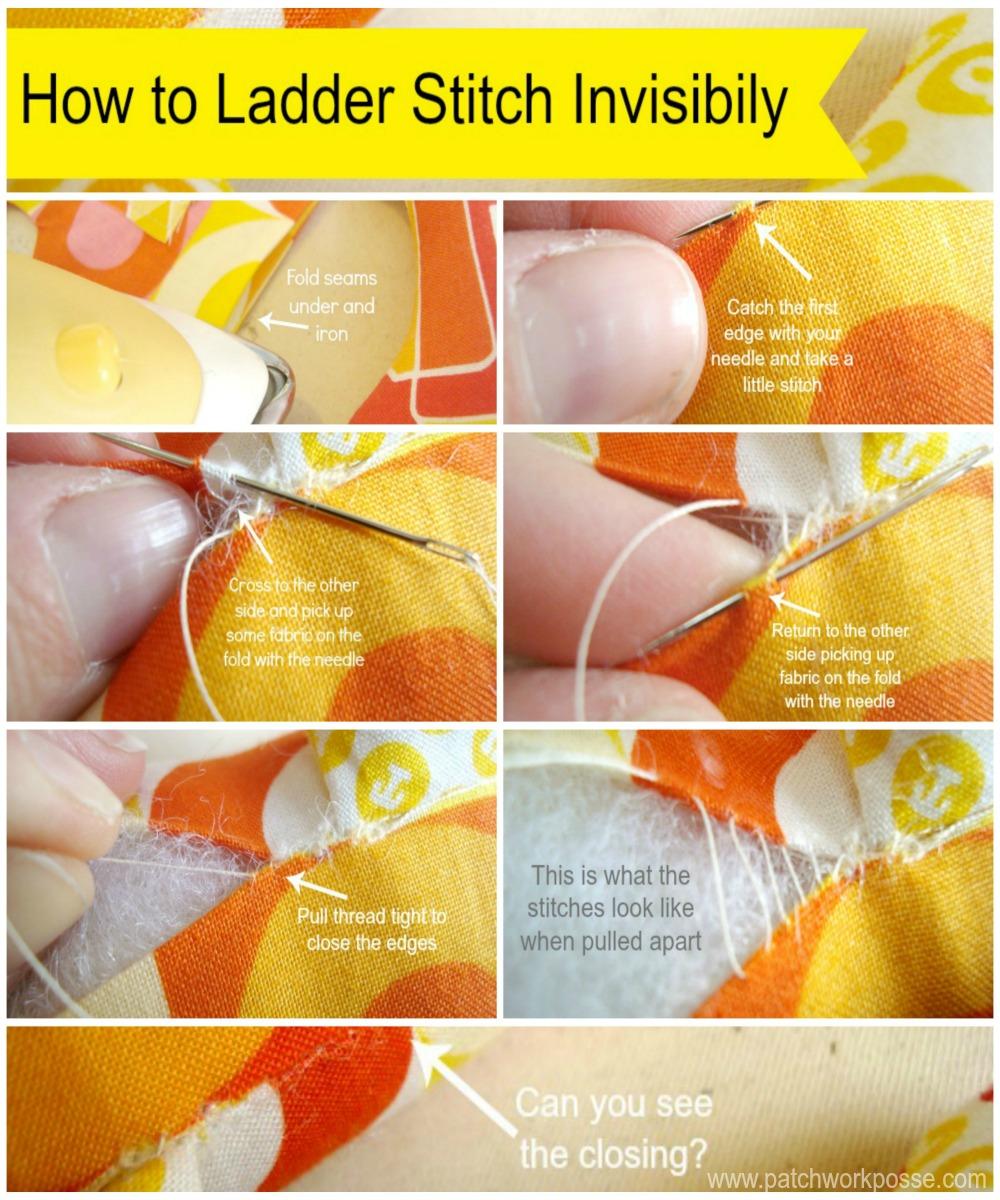 ladder stitch guide: