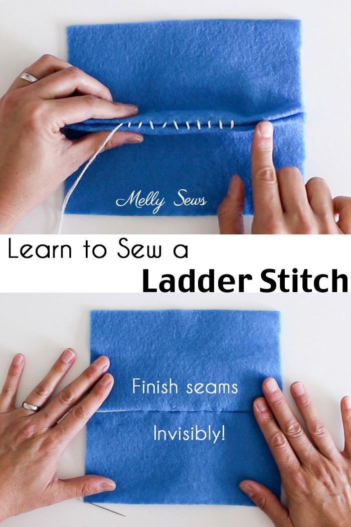 How to sew a ladder stitch - close a seam invisibly - aka slip stitch,