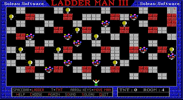 Ladder Man III DOS Room 4. Haven't cracked this one yet