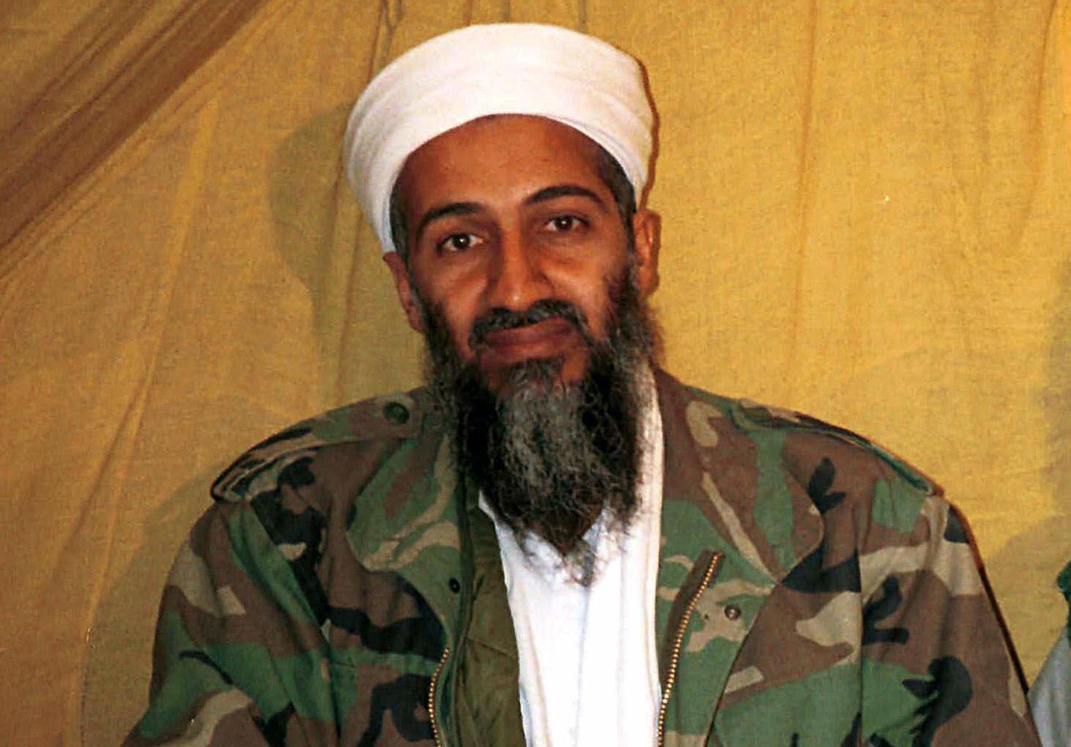 Osama bin Laden in Afghanistan.