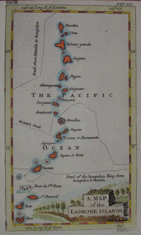Map of Ladrone Islands - Jefferys