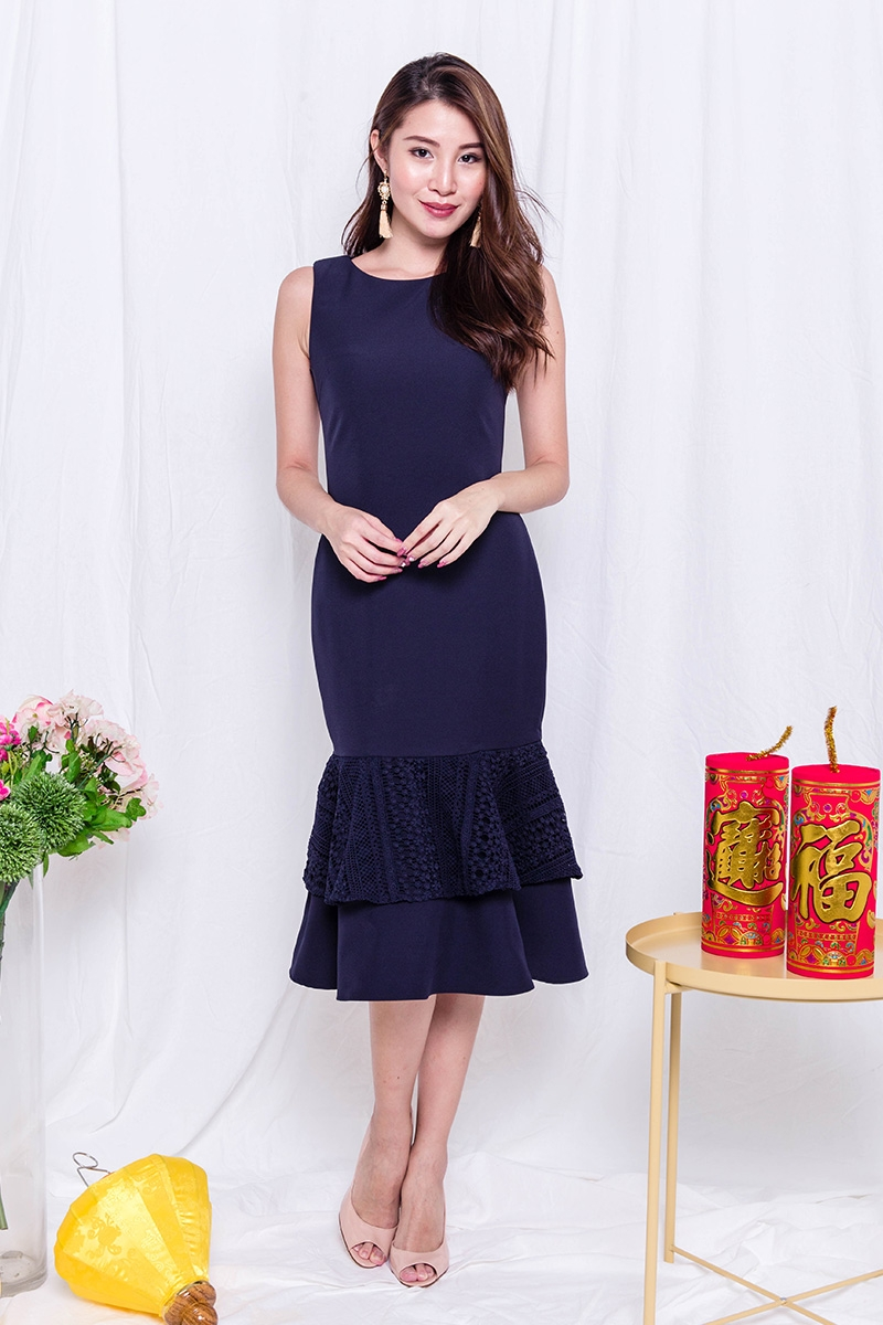 ByPDC   Lady of the Land Mermaid Dress in Midnight Blue   Pixie Dust  Collections