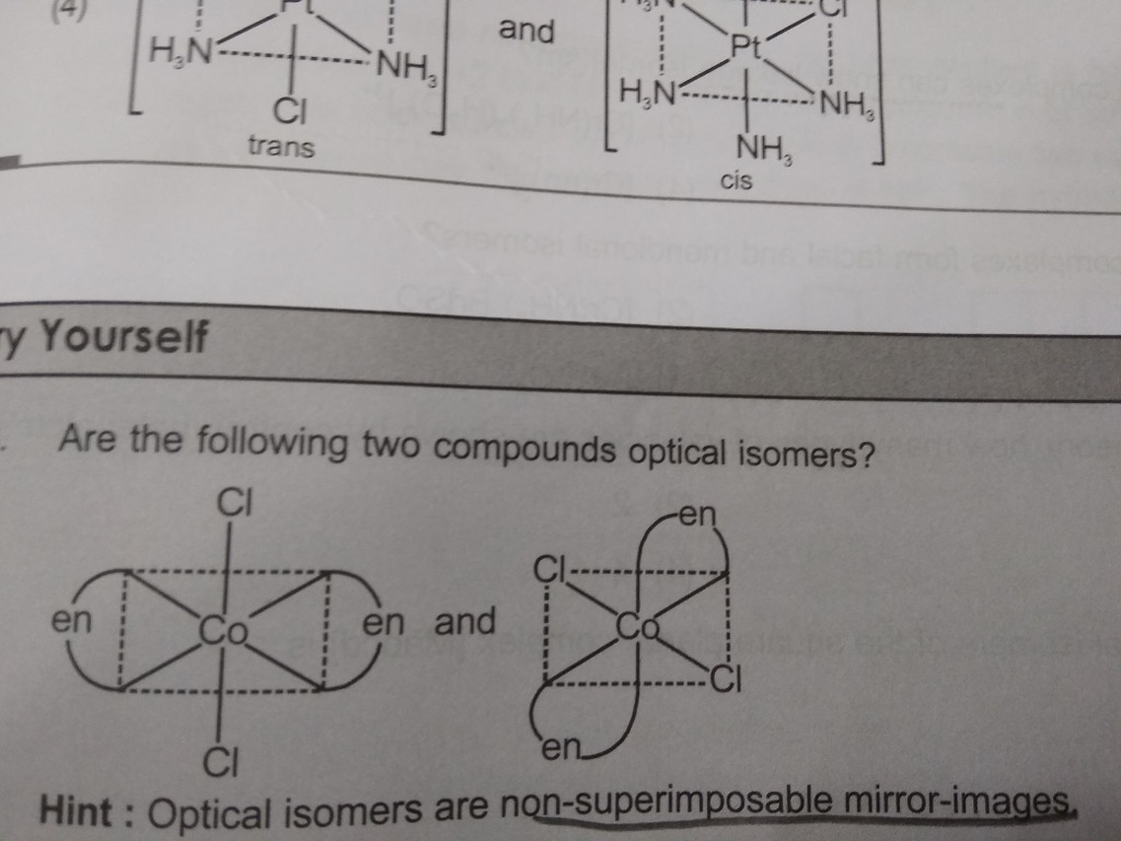 Why both of them are not optical isomers please explain and is the other  one showing laevo rotation