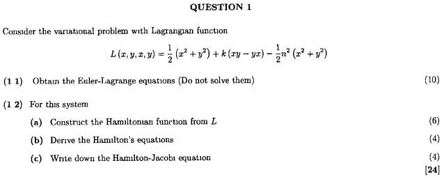 lagrangian function