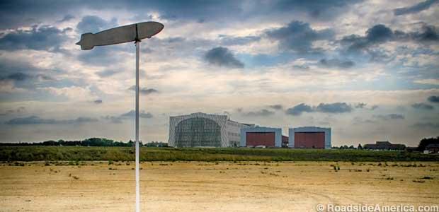 Zeppelin Weather Vane at Lakehurst Naval Air Engineering Station.