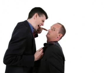 A boss lambastes his employee.